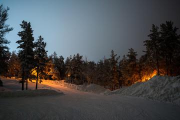 Winter in north