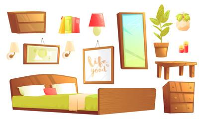 Modern furniture for bedroom design elements.