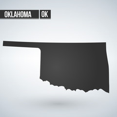 map of the U.S. state of Oklahoma. vector illustration.