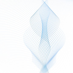 Vector ornamental design element. Abstract background with transparent blue and gray waving lines. Technology futuristic template, for websites, presentations, brochures. EPS10 illustration