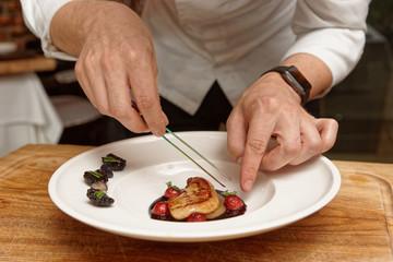 Chef is serving foie gras