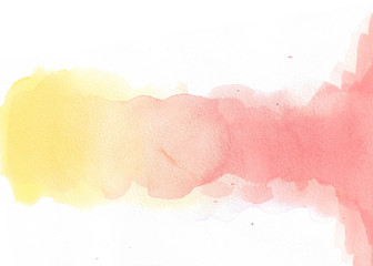 Abstract Watercolor On White Background. Hand Painted Illustration.