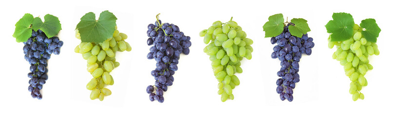 grapes brunch isolated on white background Fototapete