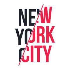 Slogan graphic for t-shirt print. T-shirt design with slogan. New York, modern typography for tee print