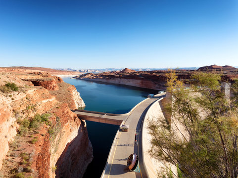 Glen Canyon hydropower Dam on the Colorado River in Arizona