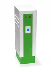 Electric car charging station 3d rendering