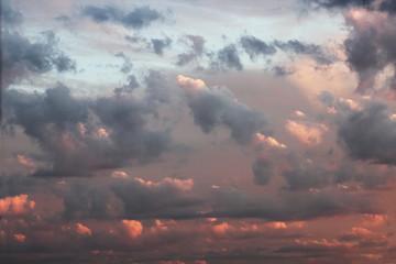 Fototapeta red cloudscape dawn sky