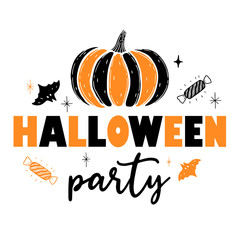A festive poster for the Halloween party.Design of a banner for a holiday.