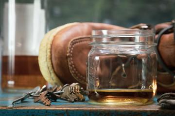 Whiskey in a Mason Jar