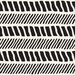 Simple ink geometric pattern. Monochrome black and white strokes background. Hand drawn ink texture for your design..