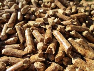 gros plan de granulés de bois de chauffage