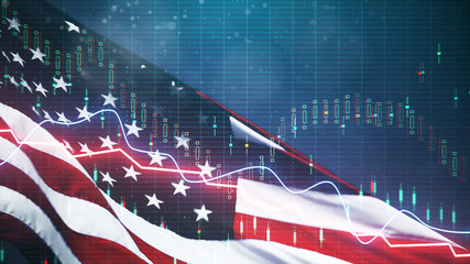 USA ecenomy and dollar concept