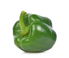 Green pepper isolated on the white background.