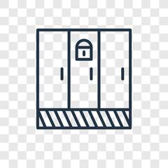 Locker vector icon isolated on transparent background, Locker logo design