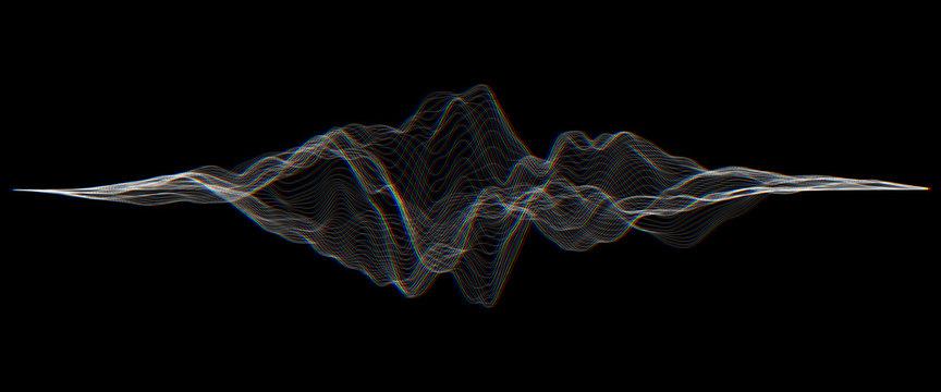 Futuristic Hud, ui vector grid. Music sound waves set. Audio digital equalizer technology, pulse musical.