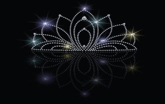 crystal crown illustration