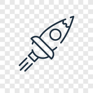 Space ship vector icon isolated on transparent background, Space ship logo design
