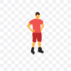 roller skater icon isolated on transparent background. Simple and editable roller skater icons. Modern icon vector illustration.