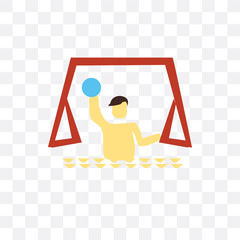 Waterpolo vector icon isolated on transparent background, Waterpolo logo design