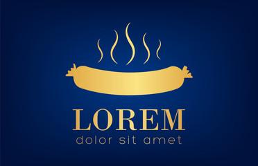 sausage logo vector