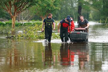 U.S. Coast Guard responds to Hurricane Florence in Lumberton