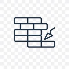 Brick vector icon isolated on transparent background, Brick logo design