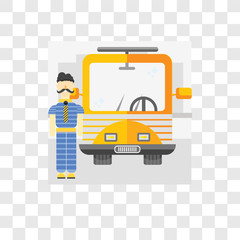 Driver vector icon isolated on transparent background, Driver logo design