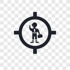 Businessman inside a ball vector icon isolated on transparent background, Businessman inside a ball logo design