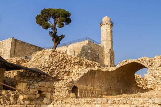 Tomb of prophet Samuel, Nabi Samwil mosque in Israel