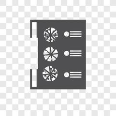 Menu vector icon isolated on transparent background, Menu logo design