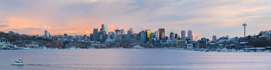 The Seattle Skyline From The Gasworks Park