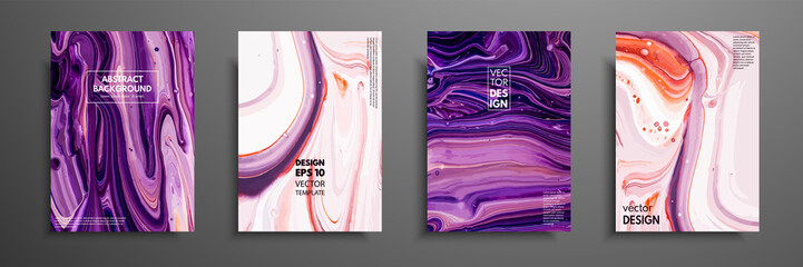 Fototapete - Mixture of acrylic paints. Modern artwork. Trendy design. Marble effect painting. Graphic hand drawn design for design covers, presentation, invitation, flyer, annual report, poster and business card.