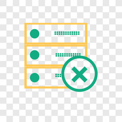 Archive vector icon isolated on transparent background, Archive logo design