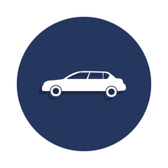sedan icon in badge style. One of cars collection icon can be used for UI, UX