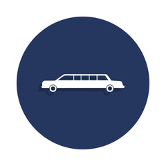 car limousine icon in badge style. One of cars collection icon can be used for UI, UX