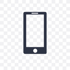 mobile phone icon isolated on transparent background. Simple and editable mobile phone icons. Modern icon vector illustration.