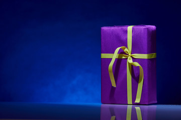 gorgeous design box for gifts on a blue background