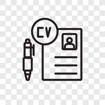 Curriculum vitae vector icon isolated on transparent background, Curriculum vitae logo design