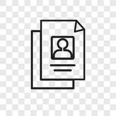 Resume vector icon isolated on transparent background, Resume logo design