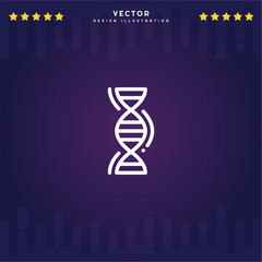 Premium Symbol of Dna Related Vector Line Icon Isolated on Gradient Background. Modern simple flat symbol for web site design, logo, app, UI. Editable Stroke. Pixel Perfect.