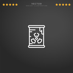 Premium Symbol of Radioactive Related Vector Line Icon Isolated on Gradient Background. Modern simple flat symbol for web site design, logo, app, UI. Editable Stroke. Pixel Perfect.