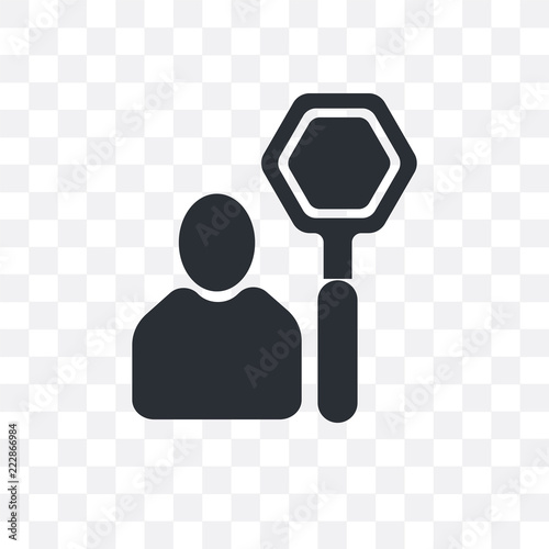stop icon isolated on transparent background  Simple and
