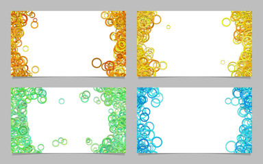 Abstract business card background template set with colroed circles