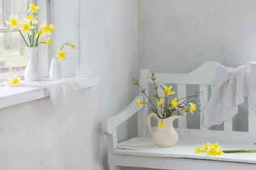 yellow spring flowers indoor