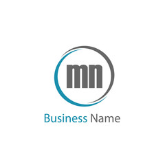 Initial Letter MN Logo Template Design