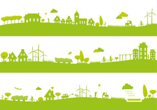 Green city landscapes