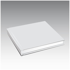 Vector white book template blank cover