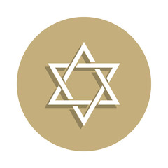 Judaism Star of David sign icon in badge style. One of religion symbol collection icon can be used for UI, UX