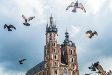 Autocollant pour porte Cracovie St. Mary's Basilica in Cracow