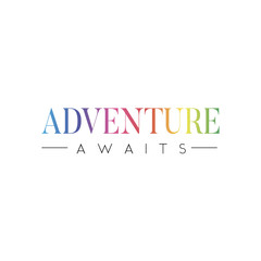 slogan ADVENTURE AWAITS phrase graphic vector Print Fashion lettering calligraphy